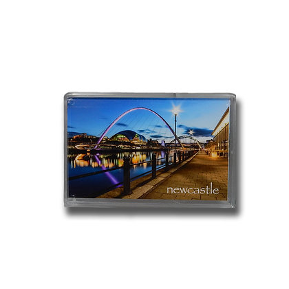 Millennium Bridge & River Tyne at Dusk Photo Magnet