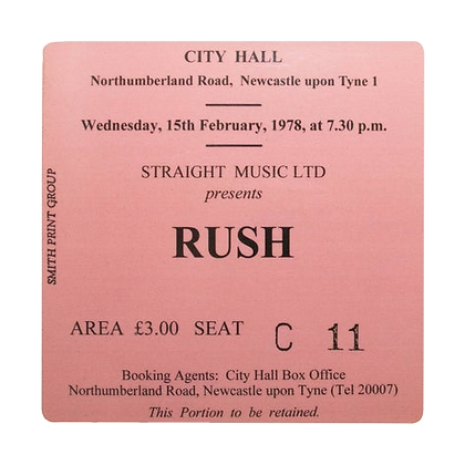 Rush City Hall Ticket Coaster