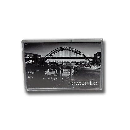 Tyne Bridge Black & White Photo Magnet