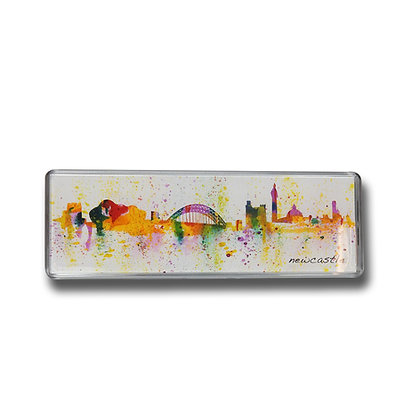Newcastle Skyline Illustrated Panoramic Magnet