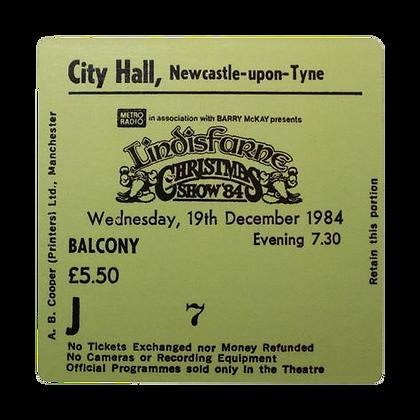 Lindisfarne City Hall Ticket Coaster