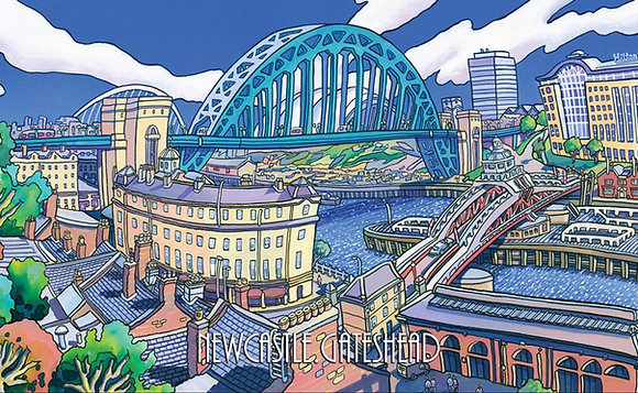 Newcastle/Gateshead Tea Towel