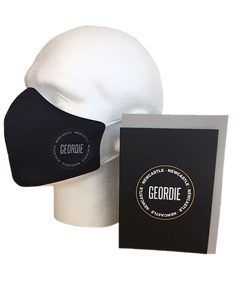 Geordie Badge Face Mask with Greeting Card