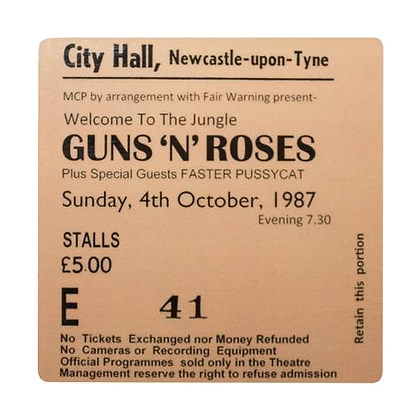 Guns n Roses City Hall Ticket Coaster