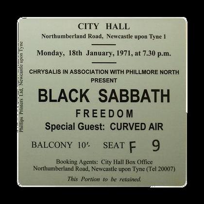 Black Sabbath City Hall Ticket Coaster
