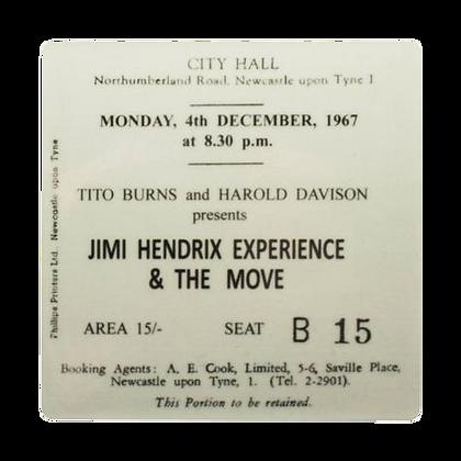 Jimi Hendrix City Hall Ticket Coaster