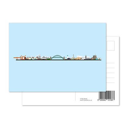 NewcastleGateshead Skyline Postcard