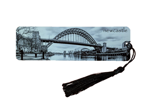 Metal Newcastle Tyne Bridge Bookmark with Tassel