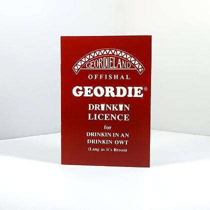 Geordie Drinkin Licence