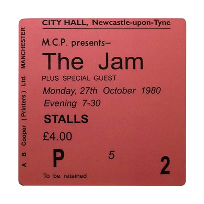 The Jam City Hall Ticket Coaster