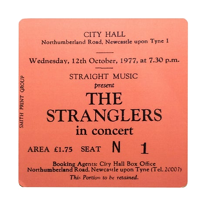 The Stranglers City Hall Ticket Coaster