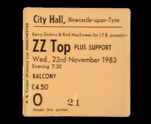 ZZ Top City Hall Ticket Coaster
