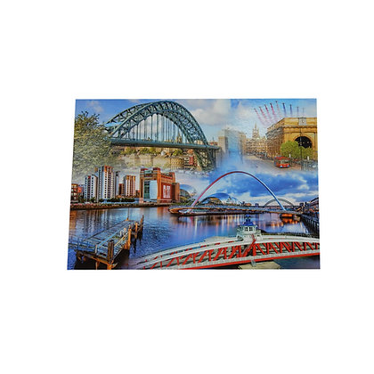 Newcastle Gateshead Cities Postcard