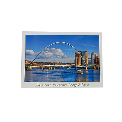 Gateshead Millennium Bridge & Baltic Postcard