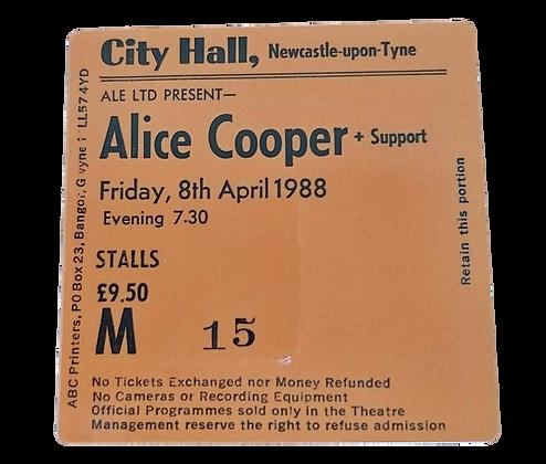 Alice Cooper City Hall Ticket Coaster