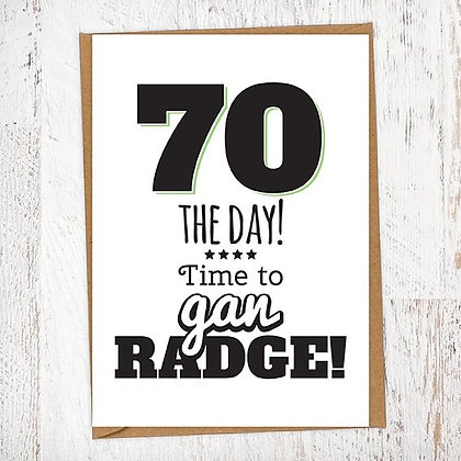 70 THE DAY! Time to gan RADGE! Geordie Card