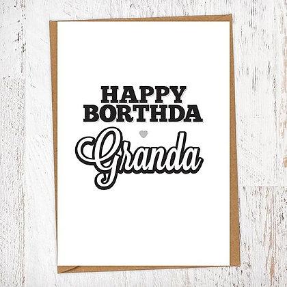 Happy Borthda Granda Geordie Card