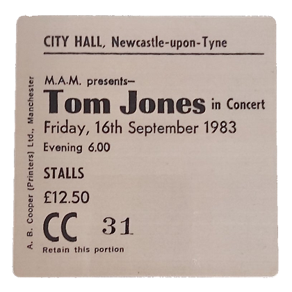 Tom Jones City Hall Ticket Coaster