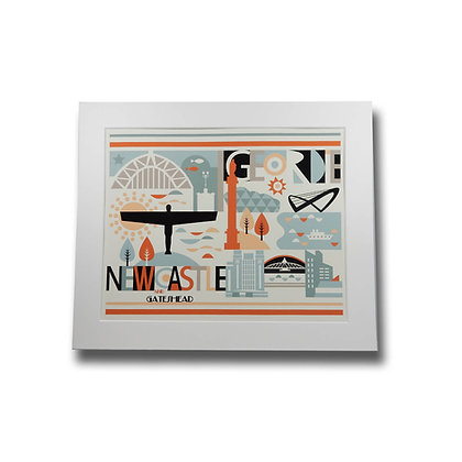 Newcastle & Gateshead City Scape Print