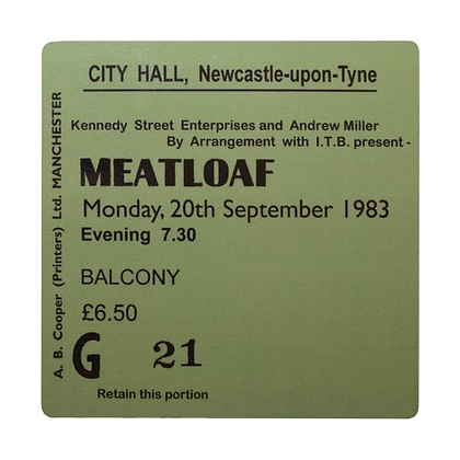 Meatloaf City Hall Ticket Coaster