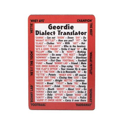 Geordie Dialect Translator Premium Magnet