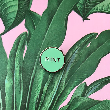 Mint Pin Badge