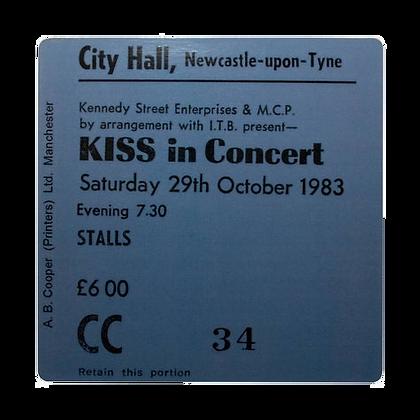 Kiss City Hall Ticket Coaster