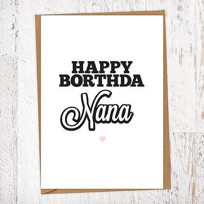 Happy Borthda Nana Geordie Card