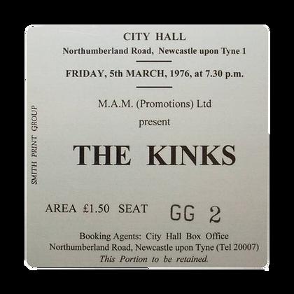 The Kinks City Hall Ticket Coaster