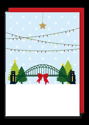 Tyne Bridge Christmas Cards (6 Pack)