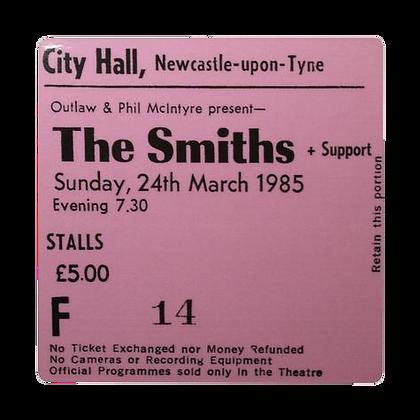 The Smiths City Hall Ticket Coaster