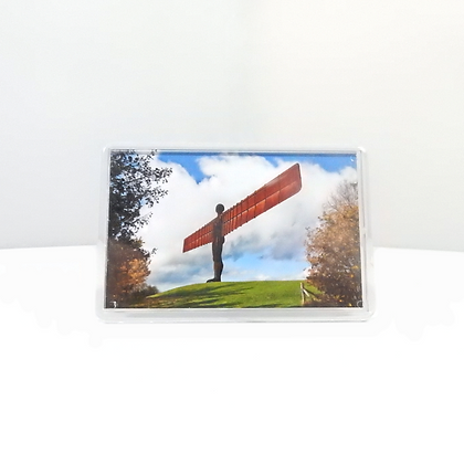 Angel of the North Hillside Photo Magnet