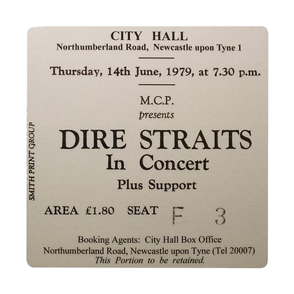 Dire Straits City Hall Ticket Coaster