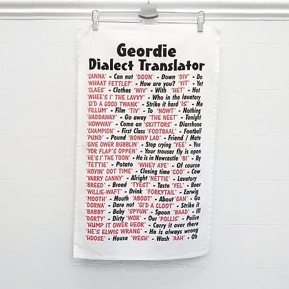 Geordie Dialect Tea Towel
