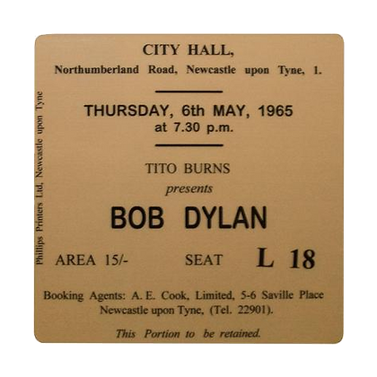 Bob Dylan City Hall Ticket Coaster