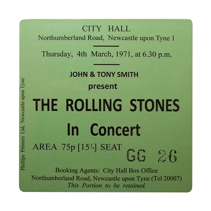 The Rolling Stones City Hall Ticket Coaster