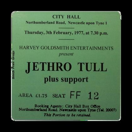 Jethro Tull City Hall Ticket Coaster
