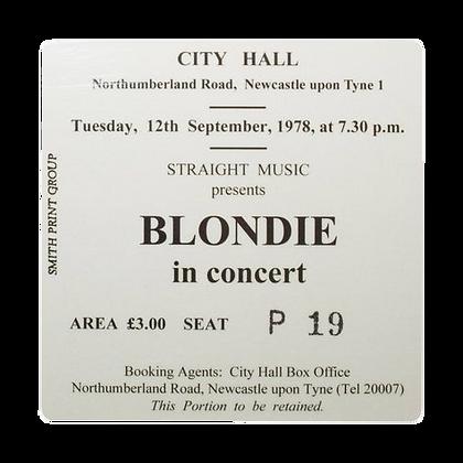 Blondie City Hall Ticket Coaster