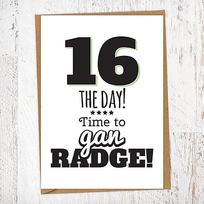 16 THE DAY! Time to gan RADGE! Geordie Card
