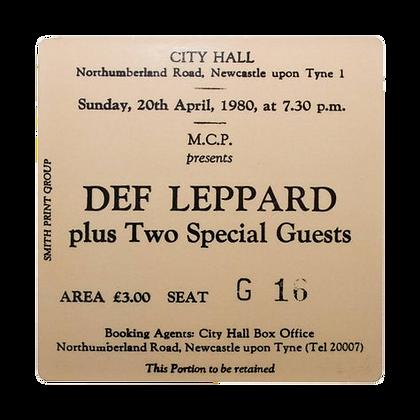 Def Leppard City Hall Ticket Coaster