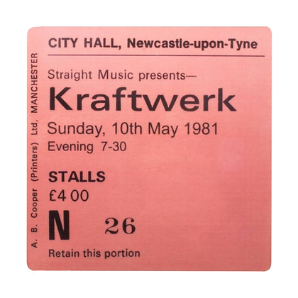 Kraftwerk City Hall Ticket Coaster