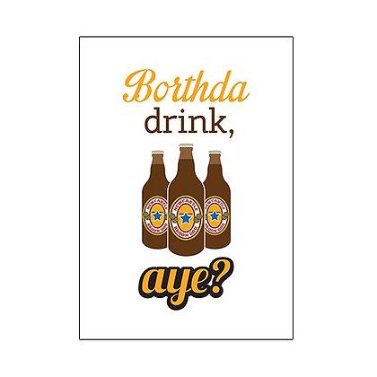 Borthda drink, aye? Geordie Card