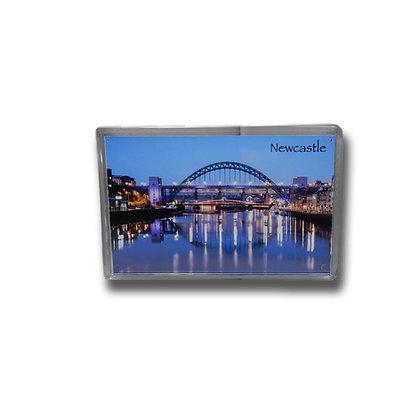 Tyne Bridge & Swing Bridge Photo Magnet