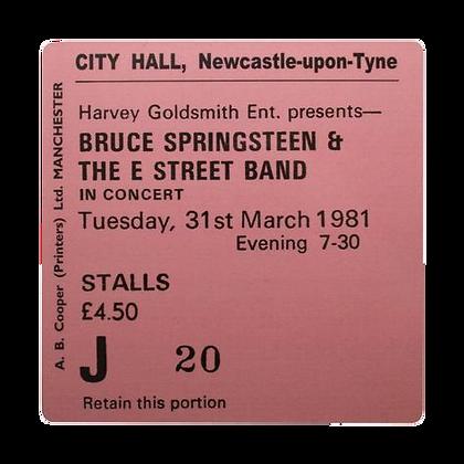 Bruce Springsteen City Hall Ticket Coaster