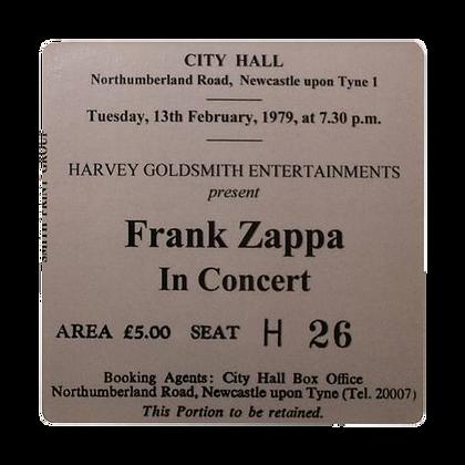 Frank Zappa City Hall Ticket Coaster