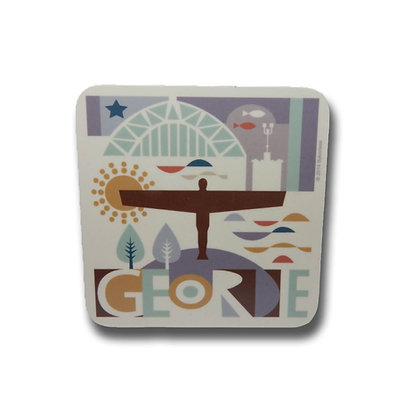 Local Geordie Landmarks Illustrated Coaster