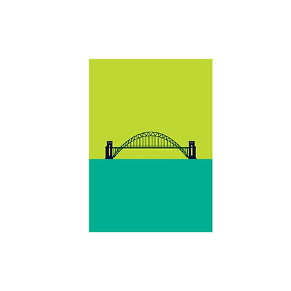 Tyne Bridge Art Style Postcard