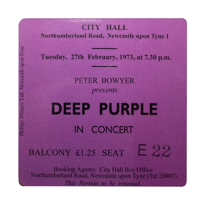Deep Purple City Hall Ticket Coaster