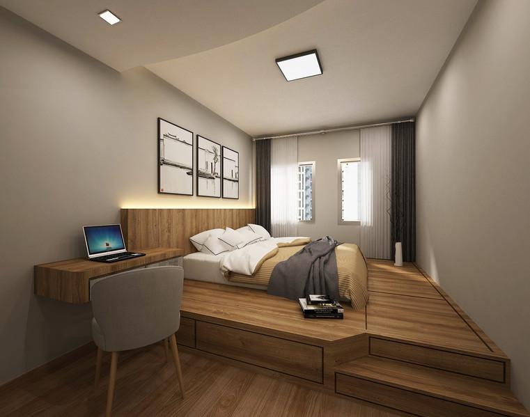St. George's Lane | Storage platform bed