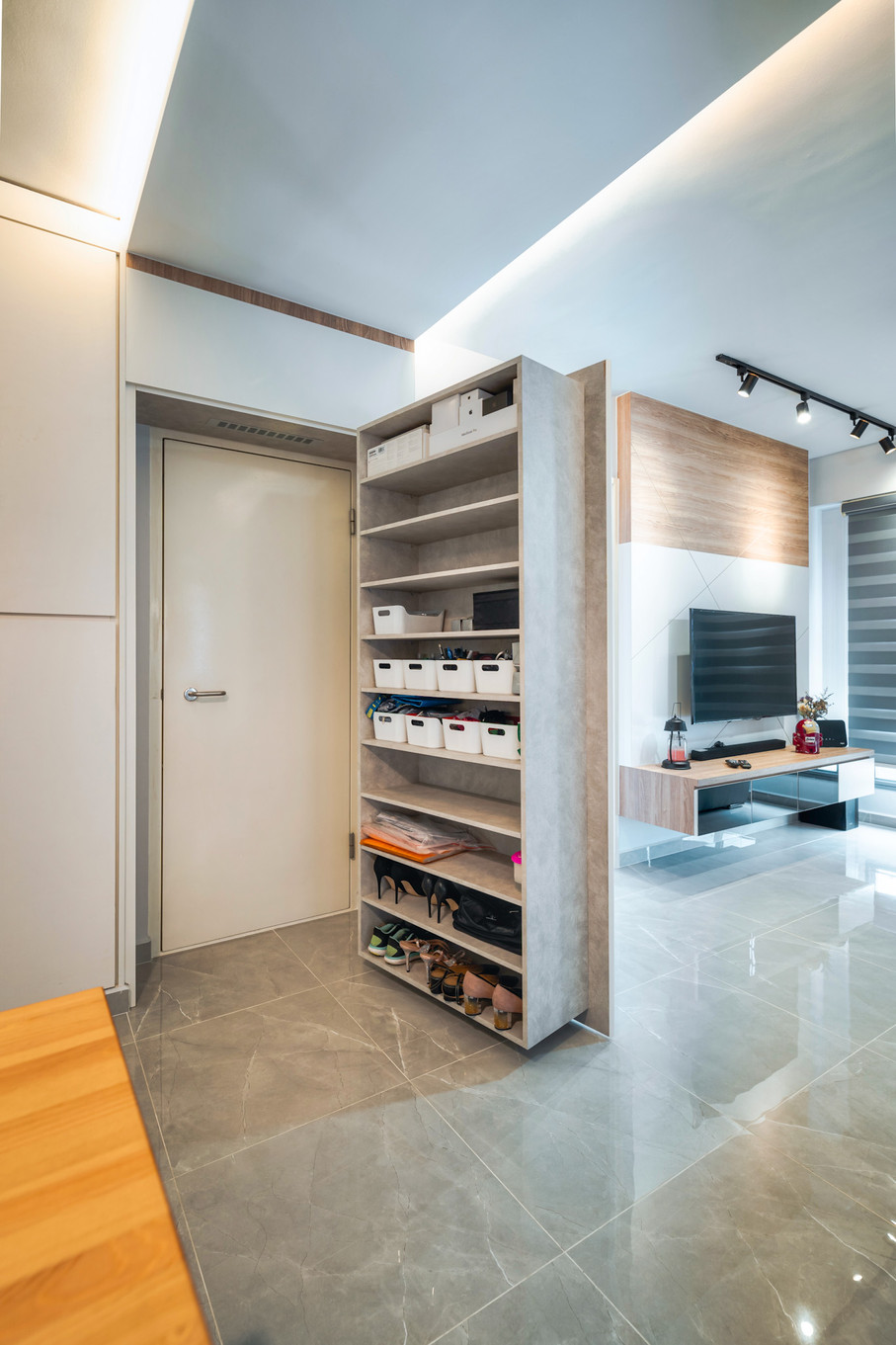 Strathmore Ave | Hidden shoe cabinet